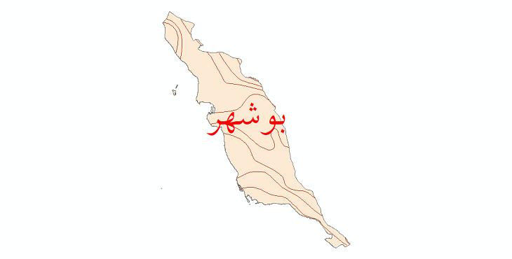 دانلود نقشه شیپ فایل خطوط هم بارش استان بوشهر