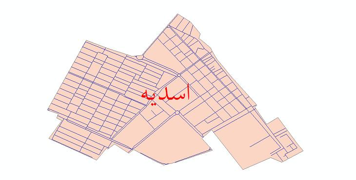 دانلود نقشه شیپ فایل شبکه معابر شهر اسدیه سال 1399