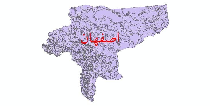 دانلود نقشه شیپ فایل کاربری اراضی استان اصفهان