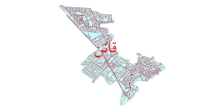 دانلود نقشه شیپ فایل شبکه معابر شهر قائن سال 1399