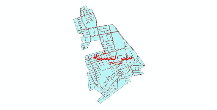 دانلود نقشه شیپ فایل شبکه معابر شهر سربیشه سال 1399