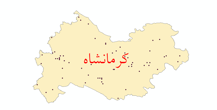 دانلود نقشه شیپ فایل ایستگاه های هواشناسی و نقاط باران سنجی استان کرمانشاه