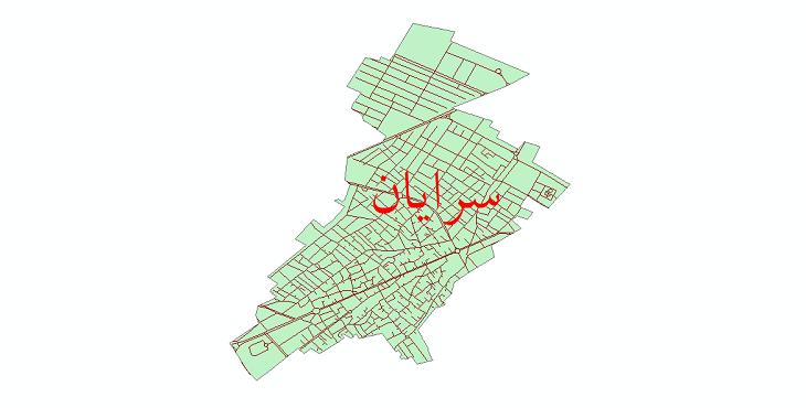 دانلود نقشه شیپ فایل شبکه معابر شهر سرایان سال 1399