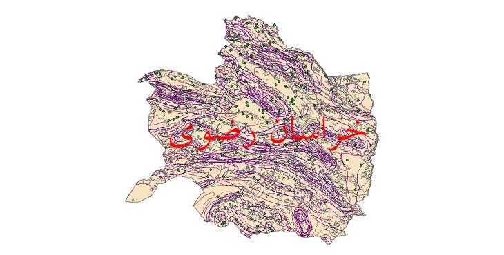 دانلود نقشه شیپ فایل اقلیمی استان خراسان رضوی