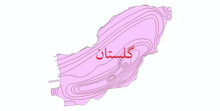 دانلود نقشه شیپ فایل خطوط هم بارش استان گلستان