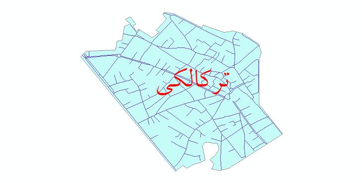 دانلود نقشه شیپ فایل شبکه معابر شهر ترکالکی سال 1399