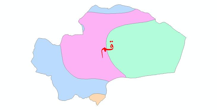 دانلود نقشه شیپ فایل طبقات اقلیمی استان قم