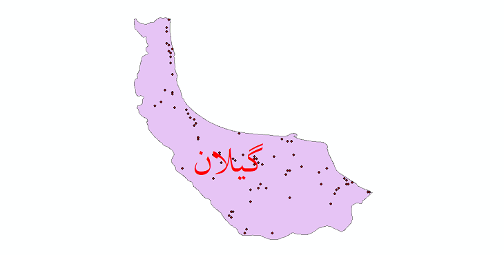 دانلود نقشه شیپ فایل ایستگاه های هواشناسی و نقاط باران سنجی استان گیلان
