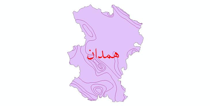 دانلود نقشه شیپ فایل خطوط هم دما استان همدان