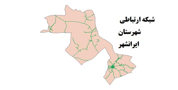 شیپ فایل شبکه راههای شهرستان ایرانشهر 1399