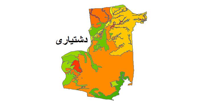 شیپ فایل کاربری اراضی شهرستان دشتیاری