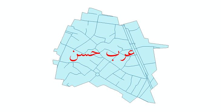 دانلود نقشه شیپ فایل شبکه معابر شهر عرب حسن سال 1399