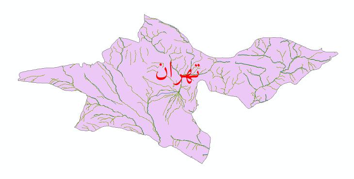 دانلود نقشه شیپ فایل رودخانه های استان تهران