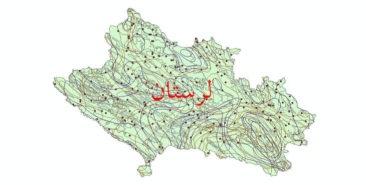 دانلود نقشه شیپ فایل اقلیمی استان لرستان