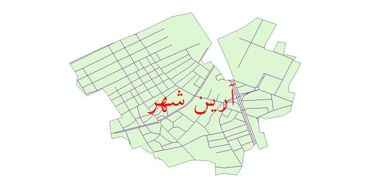 دانلود نقشه شیپ فایل شبکه معابر شهر آرین شهر سال 1399