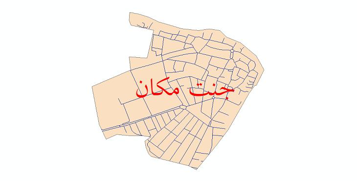 دانلود نقشه شیپ فایل شبکه معابر شهر جنت مکان سال 1399