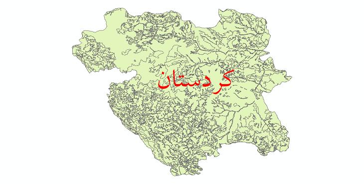 دانلود نقشه شیپ فایل کاربری اراضی استان کردستان