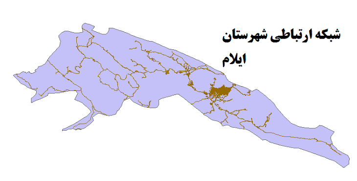 شیپ فایل شبکه راههای شهرستان ایلام 1399