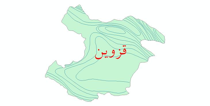 دانلود نقشه شیپ فایل خطوط هم بارش استان قزوین