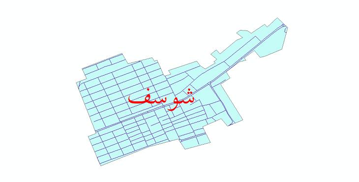 دانلود نقشه شیپ فایل شبکه معابر شهر شوسف سال 1399