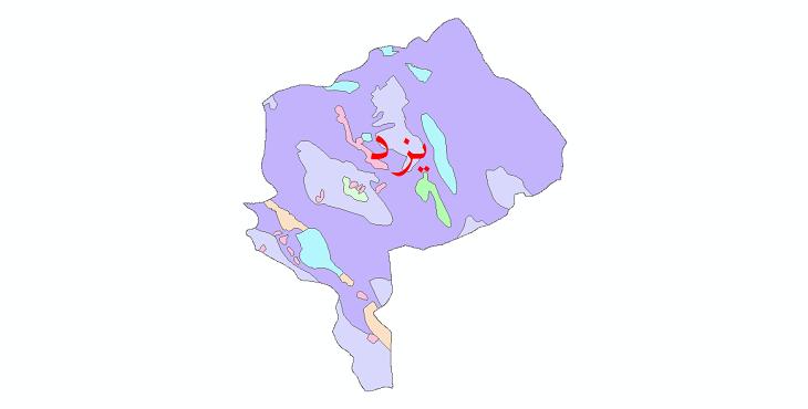 دانلود نقشه شیپ فایل پوشش گیاهی استان یزد