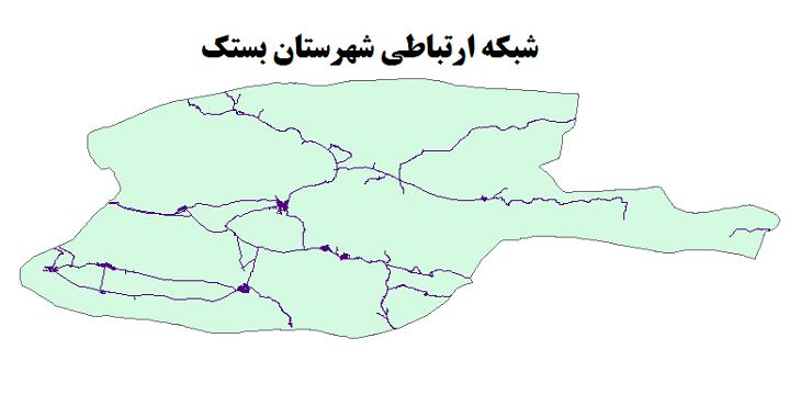 شیپ فایل شبکه راههای شهرستان بستک 1399