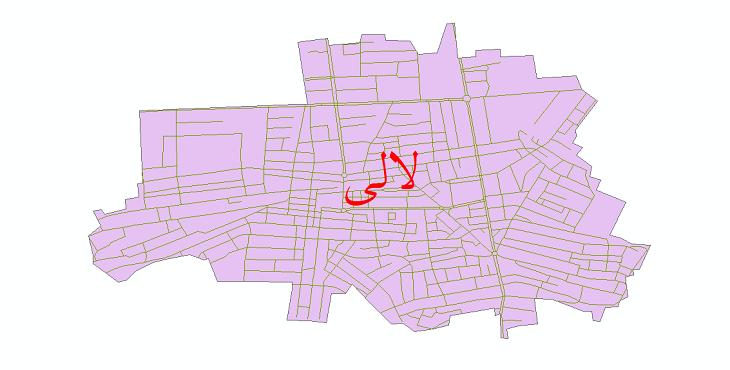دانلود نقشه شیپ فایل شبکه معابر شهر لالی سال 1399