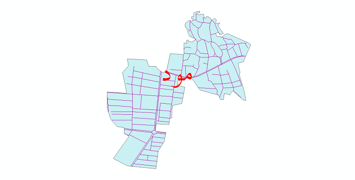 دانلود نقشه شیپ فایل شبکه معابر شهر مود سال 1399