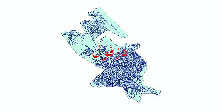 دانلود نقشه شیپ فایل شبکه معابر شهر دزفول سال 1399