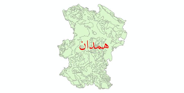 دانلود نقشه شیپ فایل زمینشناسی استان همدان