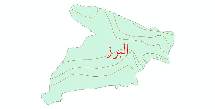 دانلود نقشه شیپ فایل خطوط هم تبخیر استان البرز