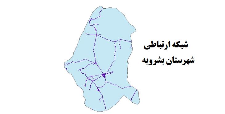 شیپ فایل شبکه راههای شهرستان بشرویه 1399