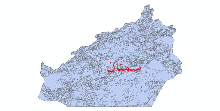 دانلود نقشه شیپ فایل زمینشناسی استان سمنان