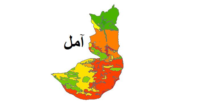 شیپ فایل کاربری اراضی شهرستان آمل