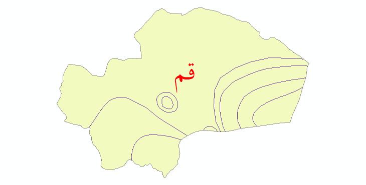 دانلود نقشه شیپ فایل خطوط هم تبخیر استان قم