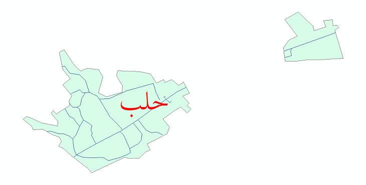 دانلود نقشه شیپ فایل شبکه معابر شهر حلب سال 1399