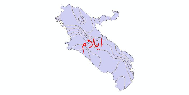 دانلود نقشه شیپ فایل خطوط هم بارش استان ایلام