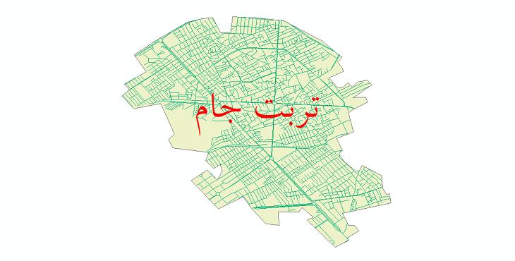 دانلود نقشه شیپ فایل شبکه معابر شهر تربت جام سال 1399