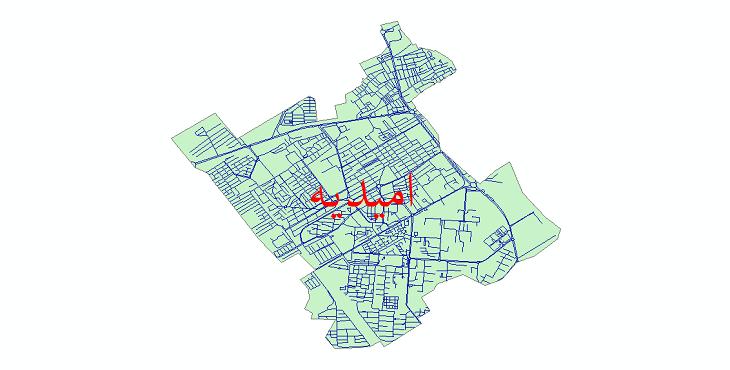 دانلود نقشه شیپ فایل شبکه معابر شهر امیدیه سال 1399
