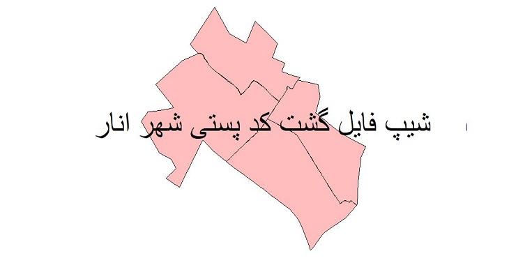 نقشه شیپ فایل گشت کدپستی شهر انار