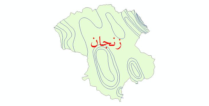 دانلود نقشه شیپ فایل خطوط هم بارش استان زنجان