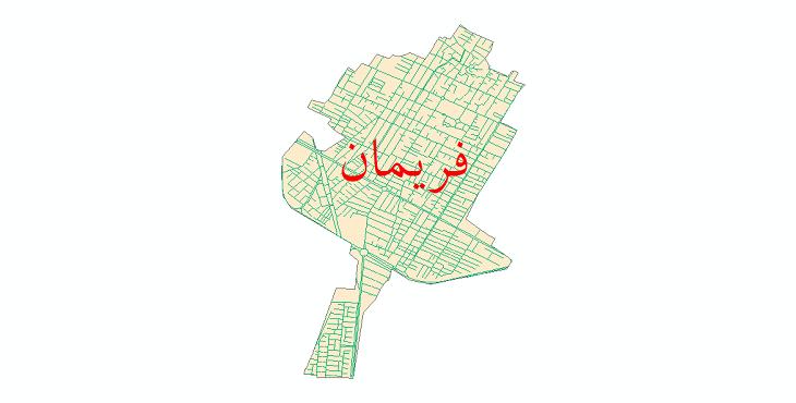دانلود نقشه شیپ فایل شبکه معابر شهر فریمان سال 1399