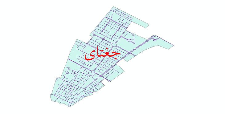 دانلود نقشه شیپ فایل شبکه معابر شهر جغتای سال 1399
