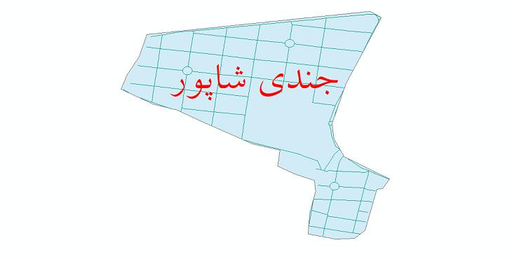 دانلود نقشه شیپ فایل شبکه معابر شهر جندی شاپور سال 1399