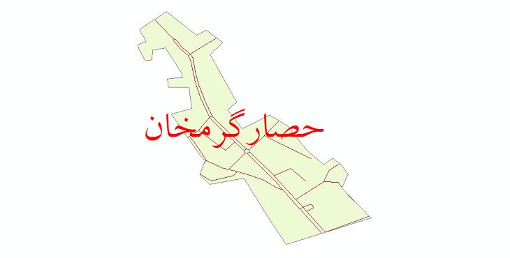 دانلود نقشه شیپ فایل شبکه معابر شهر حصارگرمخان سال 1399