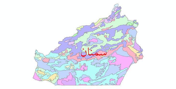 دانلود نقشه شیپ فایل خاک استان سمنان