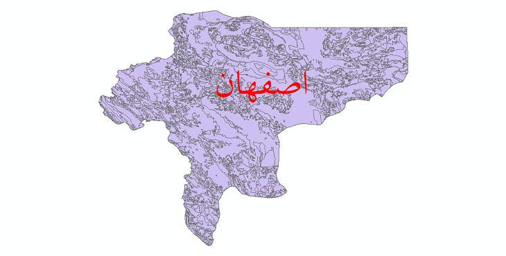 دانلود نقشه شیپ فایل زمینشناسی استان اصفهان