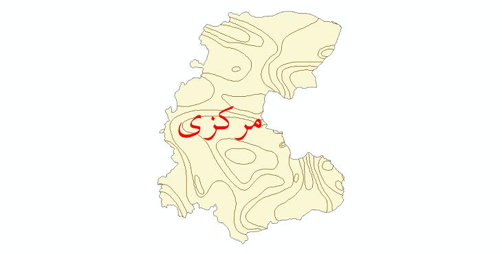دانلود نقشه شیپ فایل خطوط هم بارش استان مرکزی