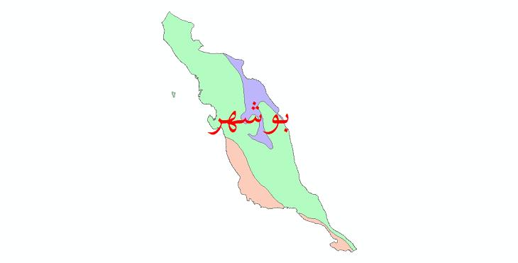 دانلود نقشه شیپ فایل طبقات اقلیمی استان بوشهر
