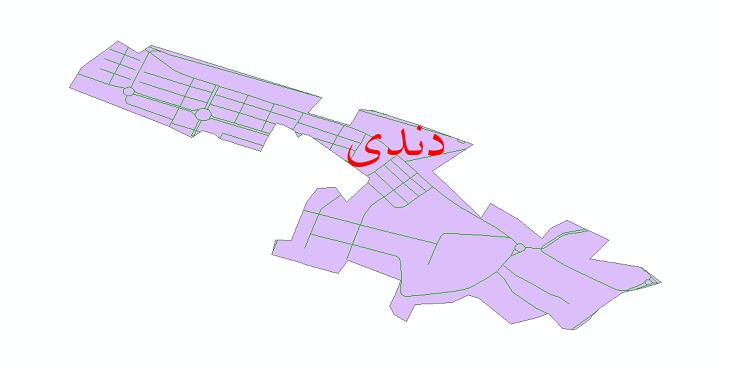 دانلود نقشه شیپ فایل شبکه معابر شهر دندی سال 1399